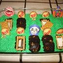 Halloween Graveyard Brownie Cake