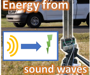 Harvesting Sound Energy From Passing Cars