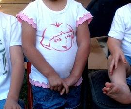 Spray Paint a T-Shirt using a Pumpkin Carving Pattern