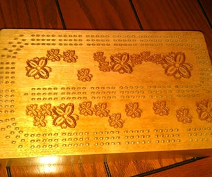 CNC Routed Cribbage Board