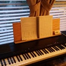 Make a replacement music score stand for Korg dp-3000c electronic piano