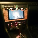 Christmas themed tablet fireplace in your car