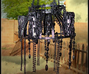 DIY Halloween Chandelier