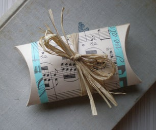 Recycled Gift Card Puff Pillow Tutorial