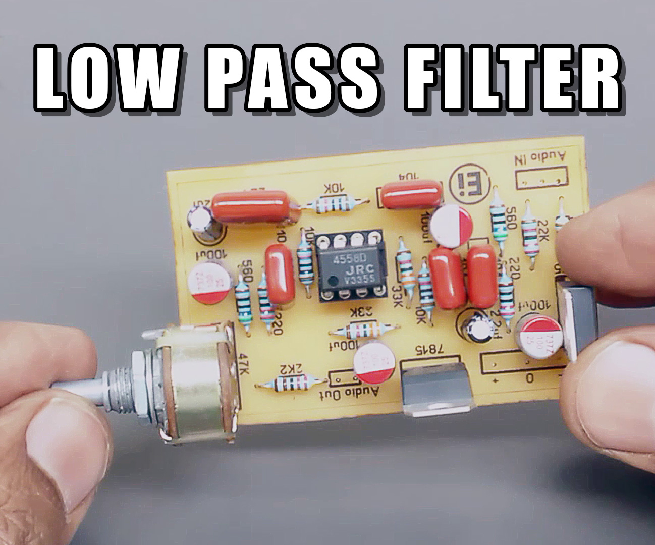 Picture of Low Pass Filter for Subwoofer With 4558D IC