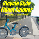 Bicycle Style Fidget Spinner (Designed in Tinkercad)