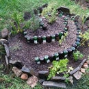 Spiral Garden with recycled bottles