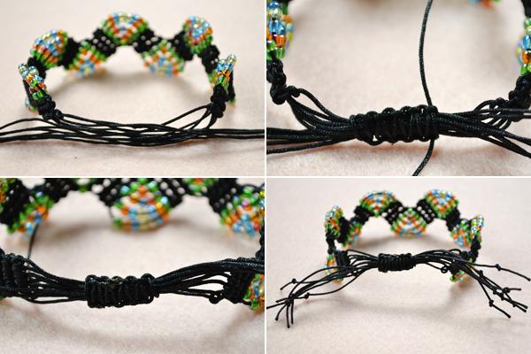 Picture of Finish the Adjustable Macramé Beaded Bracelets Tutorial