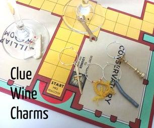 Clue (or Cluedo) Wine Glass Charms