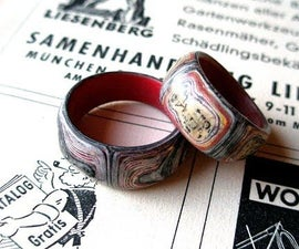 Fake Fordite Paper Ring
