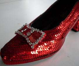 How to make ruby slippers from The Wizard of Oz
