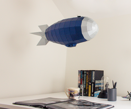 Airship Low Poly Papercraft 3D Model