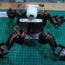 O-fat the Quadruped Robot with acrylic frame