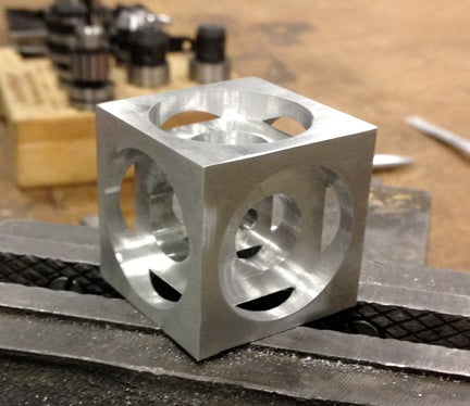 Turner S Cube A Beginner Cnc Milling Project 4 Steps
