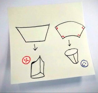 Drafting the Cone Shapes