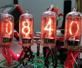 Arduino 4 Tube Multiplexed Nixie Clock
