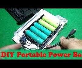Homemade External DIY Portable Power Bank Backup Battery USB Charger Smart Mobile Phone