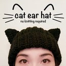 Cat Ear Hat (No Knitting)