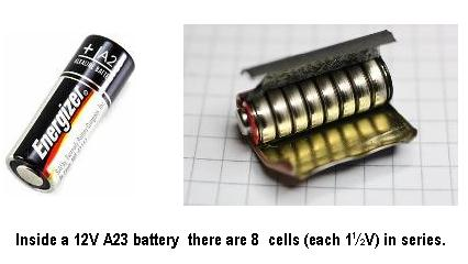 Picture of A23 Battery