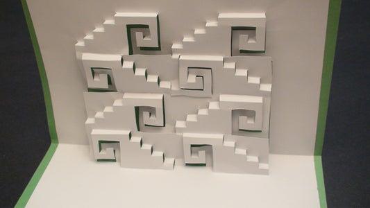 Swirly Steps Pop Up Card Kirgami!