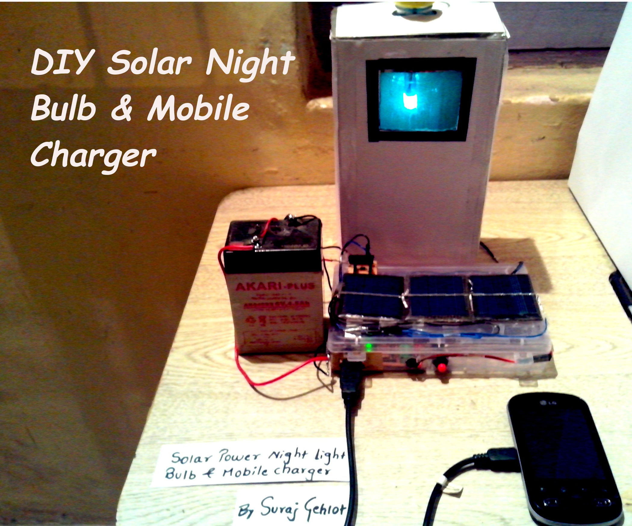 Diy Solar Bottle Bulb And Mobile Charger 11 Steps With Pictures Notes This Is A Simple Circuit That Uses