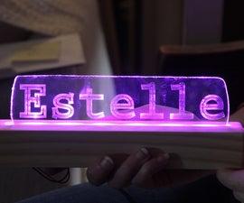 Glowing Nameplate