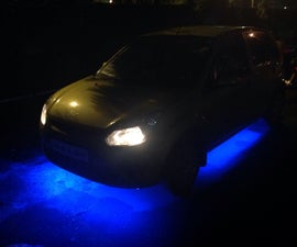 DIY Car Underbody Lights under 500 Indian rupees or just under 10-USD!!