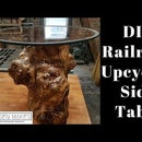 100% Upcycled DIY Railroad Side Table