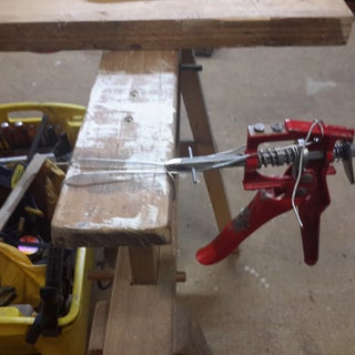 Clamp Forming Tool From a Caulking Gun