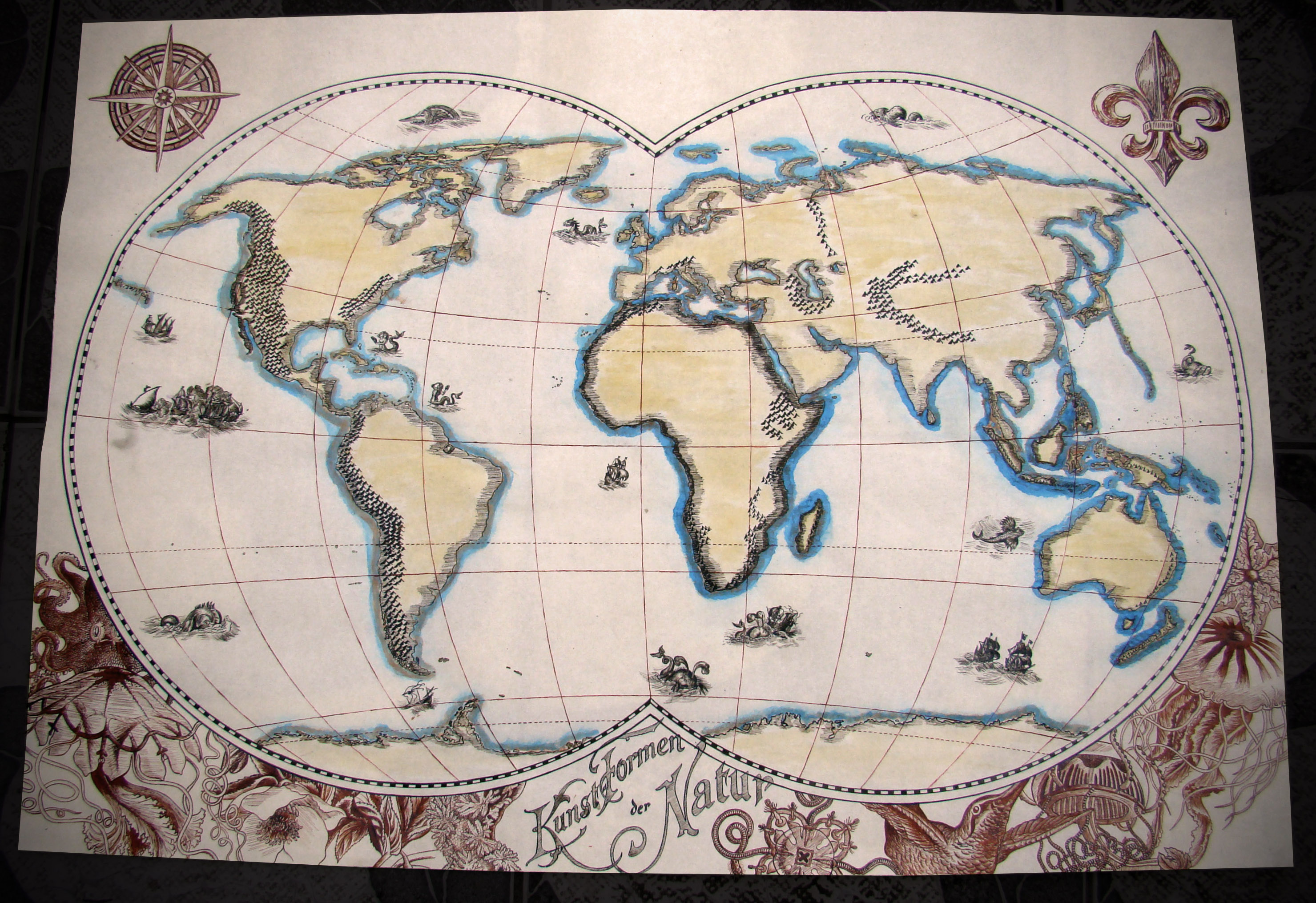 Picture of Quill and Ink Vintage World Map