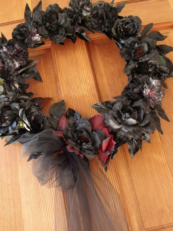 Halloween Funeral Wreath