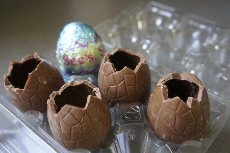 Preparing the Chocolate Eggs