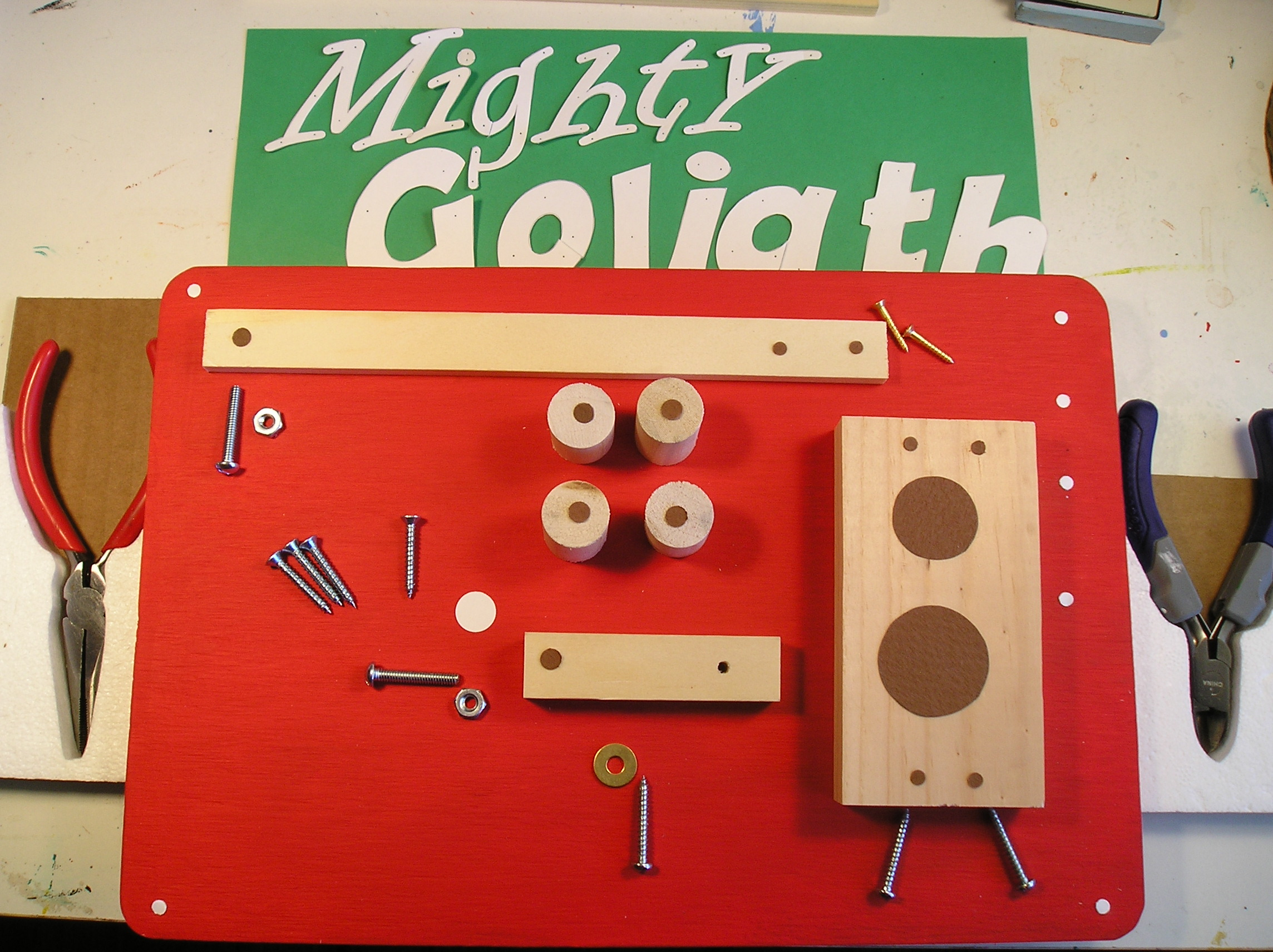 Picture of Pieces of Project Needed to Constuct Instrument.