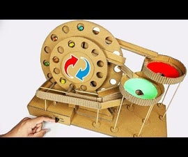 How to Make DIY MARBLE Run Machine From Cardboard Science Project at HOME