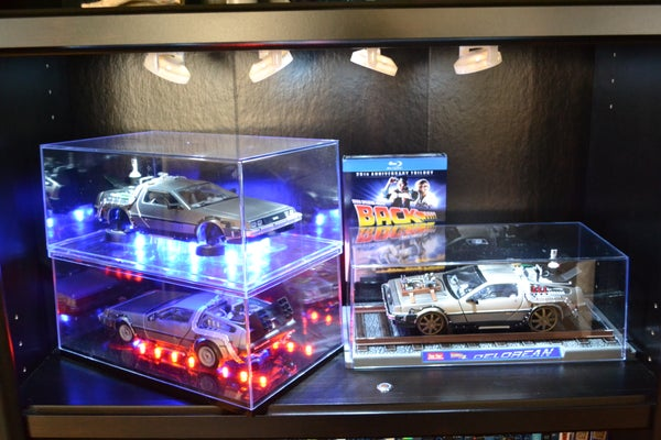 Back to the Future Model DeLorean Interactive Display