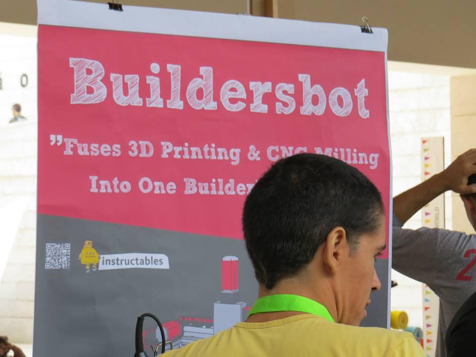Picture of Buildersbot at the Lisbon Mini Maker Faire