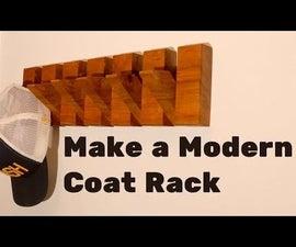 How to Make a Modern Style Coat Rack