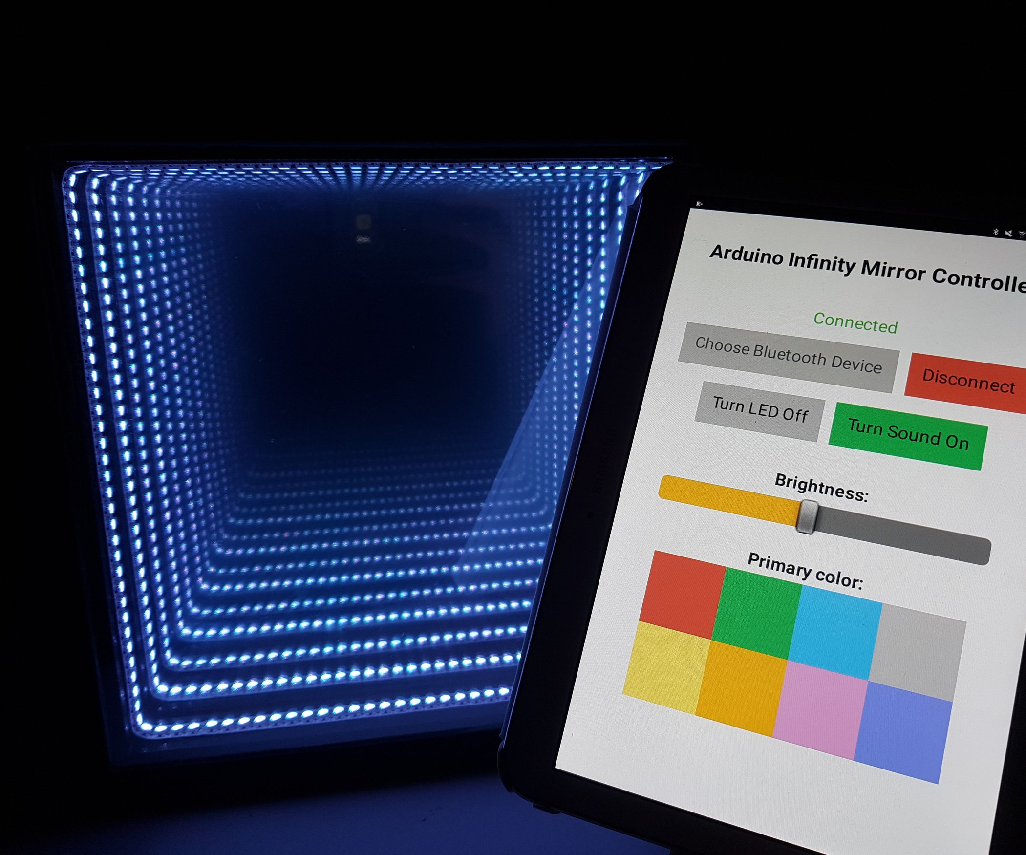 Arduino Infinity Mirror Bluetooth Sound Reactive 9 Steps With Mirrors Ford Wiring Color Codes Pictures