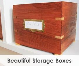 Making Vintage Style Storage Boxes w/ Splines