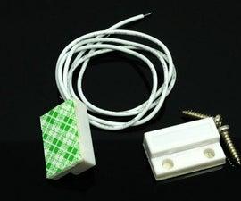 Detecting door close or open using magnetic door switch