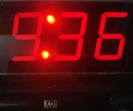 Big 7-segment Digital Clock
