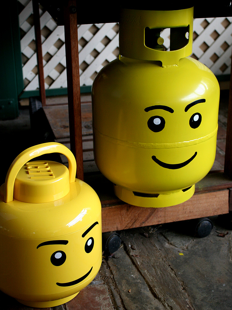 Picture of Propane Bottle Lego Head