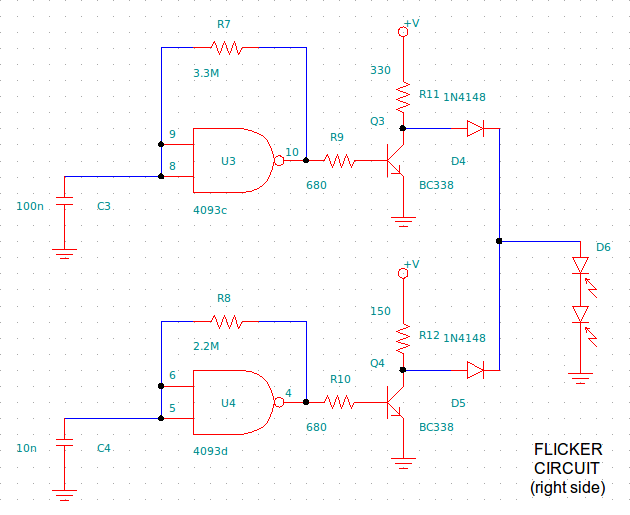 Picture of Flickering System (electronic Circuit)