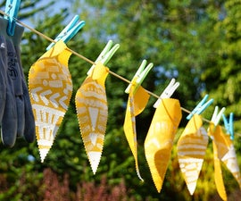 Make Your Own Oil Cloth | DIY Waterproof Outdoor Bunting