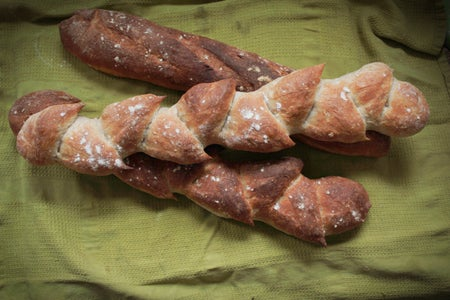 Crusty French Baguette or Epi