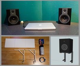 Space-saving Studio Monitors/Speakers Stands