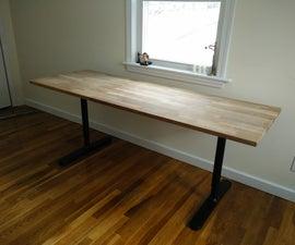 Butcher block countertop table (IKEA hack)