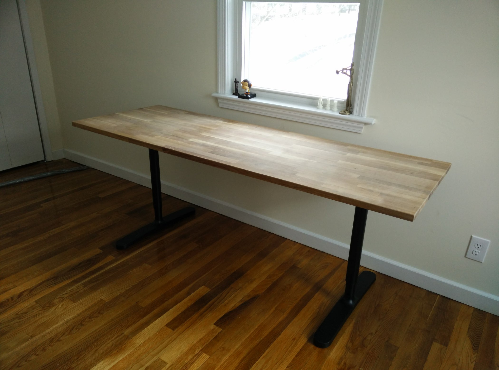 Butcher Block Countertop Table Ikea Hack 4 Steps With