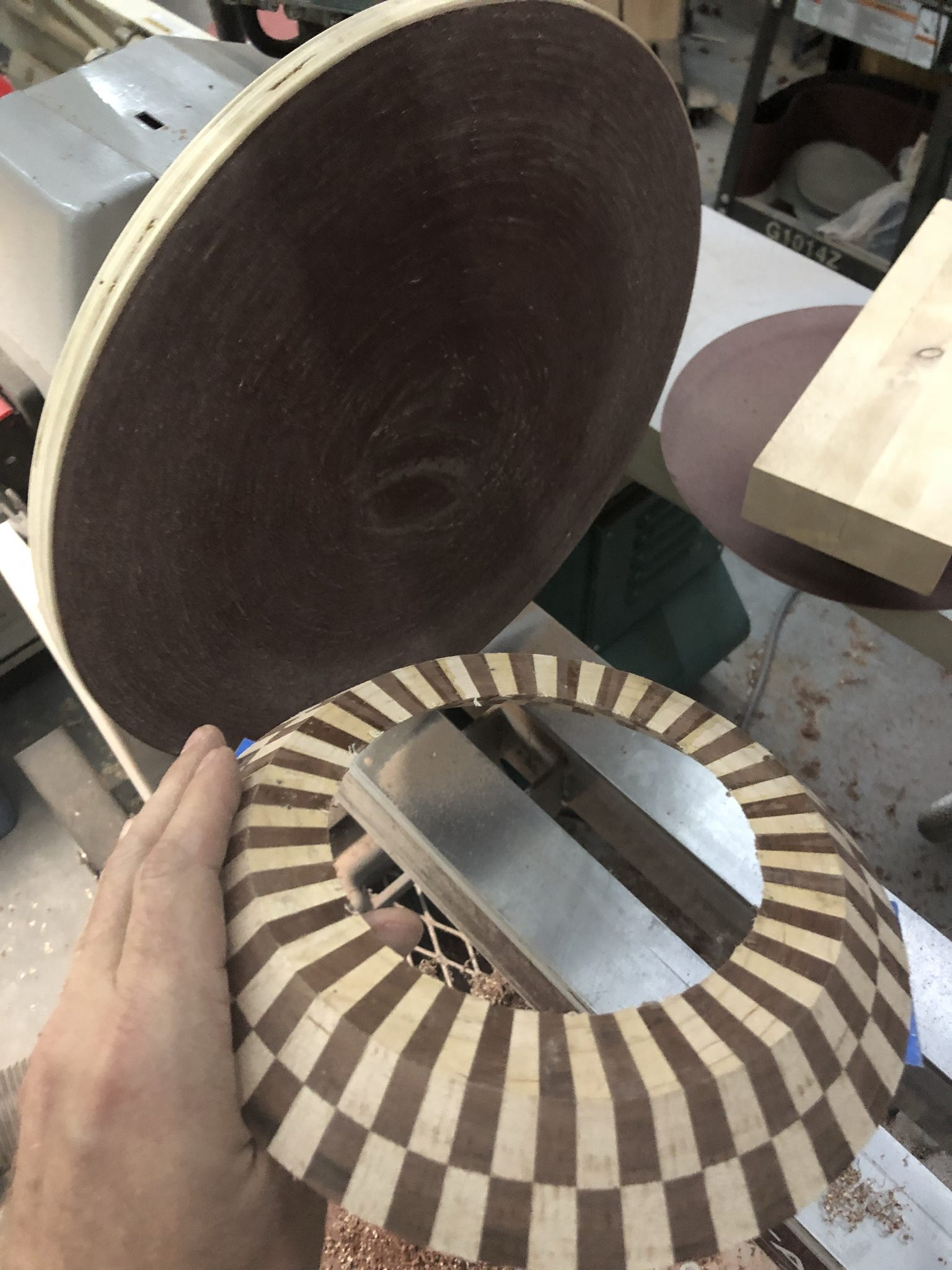 Picture of Finishing the Rings and Rough Shaping.