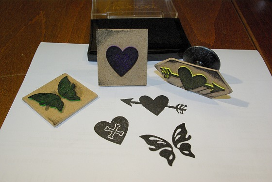Picture of Stamps From Craft Foam.